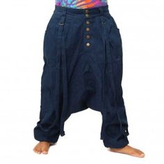Sarouel pants - cotton - dark blue