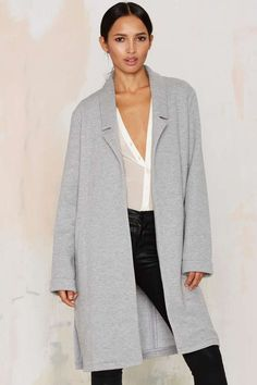 Glamorous Rock the Jersey Coat | Shop Clothes at Nasty Gal!