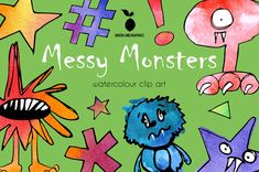 Monster Clipart, Halloween Clipart, Halloween Celebration, Cute Monsters, Monster S, Paint Party, Watercolour, Celebrations, Birthday Parties