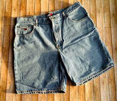 90's Men's Tommy Hilfiger Denim Shorts Size 40 100% Cotton TOMMY JEANS  #TommyHilfiger #Denim