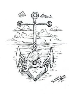 anchor/octopus/sketch