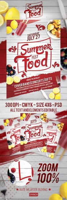 33 Ideas For Design Brochure Food Typography Food Design, Food Poster Design, Flyer Design, Design Posters, Design Ideas, Festival Flyer, Food Festival, Festival Posters, Food Truck