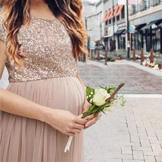 d9e3a12a1b284 Maternity Maxi Tulle Dress With Tonal Delicate Sequins. bigisa.com