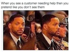 Avoiding customers when you're just not in the mood. | 28 Jokes That Prove Every Retail Job Is The Same