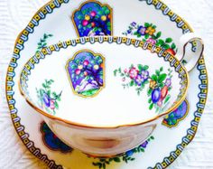 Aynsley Art Nouveau Fruit Tree 1920's Teacup and Saucer - Edit Listing - Etsy