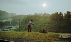 "Paul Graham's ""Lawnmower Man"", 2004. Graham recently won the 2012 Hasselblad Award for photography."