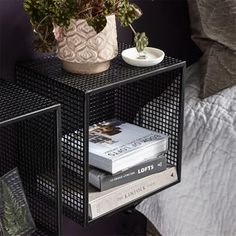 Are you interested in our wire wall shelf? With our cube wall shelf you need look no further. Steel Furniture, Industrial Furniture, Vintage Furniture, Diy Furniture, Furniture Design, Cube Shelves, Metal Shelves, Wall Shelves, Wire Wall Shelf