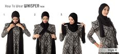 How to wear WhisperNeda scarf