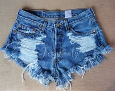 Levis high waisted denim shorts Grunge Hipster tumblr by Jeansonly