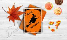 Your place to buy and sell all things handmade Funny Greetings, Funny Greeting Cards, Halloween Cards, Halloween Decorations, Birthday Cards, Happy, Prints, Art, Bday Cards