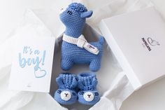 Llama gifts blue baby boy gift basket New mom present   Etsy