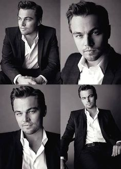 I've always thought that Leonardo DiCaprio got more handsome with age. But this cluster of shots right here- this may be a younger Leo. He looks fantastic. Leonardo Dicaprio, Pretty People, Beautiful People, Business Portrait, Famous Faces, Gorgeous Men, Movie Stars, Sexy Men, Portrait Photography