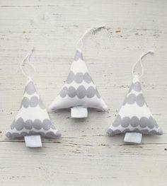 Stuffed Marimekko tree ornaments.