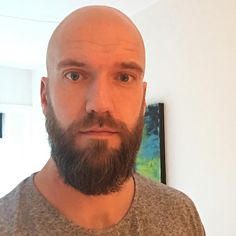awesome 20+ Reasons to Be Bald With Beard - Find Your Cool Look Check more at http://machohairstyles.com/reasons-to-be-bald-with-beard/