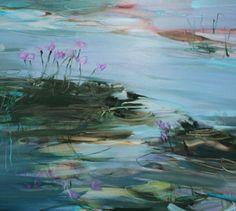 Purple Flowers by Benedict Gubb - oil on board Purple Flowers, Oil, Board, Artist, Painting, Artists, Painting Art, Paintings, Painted Canvas