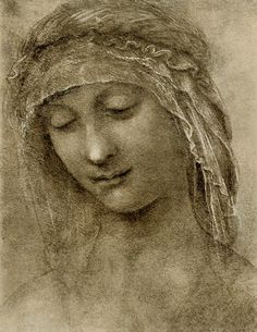 "So Beautiful, simple yet elegant. I like this soo much.     silenceforthesoul: ""Leonardo de Vinci - Head of a Woman """
