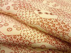 Fabric scrap Floral silk Japanese kimono  fabrics by KIMONOCARDS