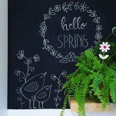Chalkart - spring decoration