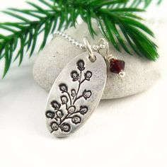 Silver Winter Berry Necklace Holiday Jewelry by newhopebeading, $38.00
