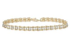 Enhance your outfit with this stylish tennis bracelets...