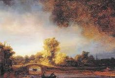 Image result for rembrandt painting landscape