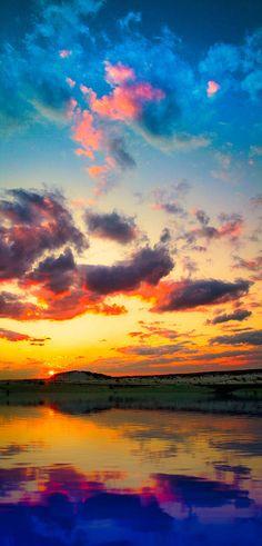 Sunset lake reflection - ©Eszra Tanner (via ImageKind)