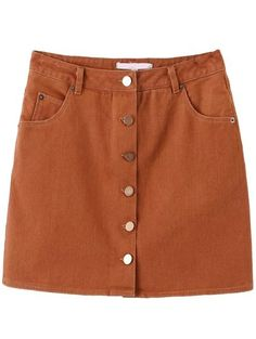 23$  Buy here - http://dip7f.justgood.pw/go.php?t=11324 - Khaki Button Up Skirt With Pocket