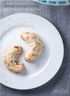 almond crescent cookies #glutenfree #grainfree #lowcarb #keto