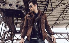 Ultimate Jacket embraces your outer-look and creates fashionable Movie Appearance with variety of Leather Outfit patterns. Feel Free to Shop. Brown Leather Motorcycle Jacket, Leather Jacket With Hood, Brown Jacket, Faux Leather Jackets, Motorcycle Jackets, Leather Fashion, Leather Men, Super Hero Outfits, Men Styles