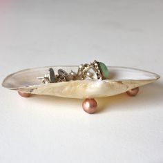 A small dish or bowl to hold jewelry or a shell jewellery holder (diy) in the guest room | a lion's nest