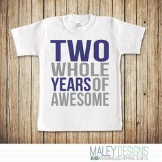 Second Birthday Shirt Boy Two Year Old Birthday by MaleyDesigns