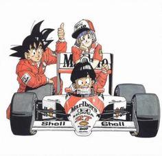 Goku, Gohan, and Bulma Dragon Ball Gt, Digimon, Manga Art, Anime Art, Dragons, Goku Y Vegeta, Car Illustration, Dragon Quest, Manga Covers