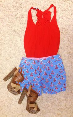 Spring break outfit #2 Top- red dress boutique Shorts- Lilly Pulitzer Heels- Jessica Simpson