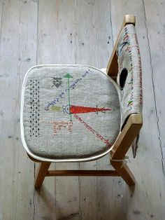 DISPLAY IDEA: reclaim an old chair. I see a lot of old chairs that have the caning gone on them at flea markets.
