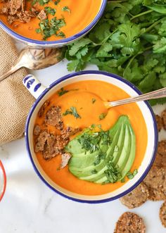 This simple vegan soup is bright, sweet and supremely comforting. Whip up a batch for healthy lunches, dinners and snacks throughout the week.