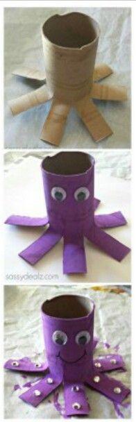 Toilet paper octopus