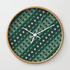 Vintage tribal aztec pattern Wall Clock
