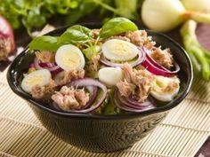 Tuňákový salát Pasta Salad, Potato Salad, Potatoes, Ethnic Recipes, Fitness, Crab Pasta Salad, Gymnastics, Potato, Keep Fit
