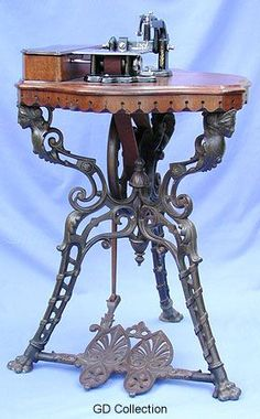 """Whight & Mann first offered the """"Alberta"""" during the 1860s.  Today, this very rare treadle can be considered one of the most desirable English combinations"""
