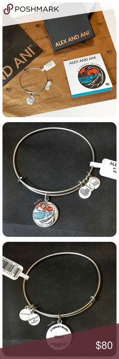 ALEX & ANI maui hawaii bracelet NEW with tags in perfect condition.   EXCLUSIVELY sold in hawaii! not available online or in stores. hand painted coloring on pendant! please choose color at checkout.   purchase includes: • silver or gold bracelet • card • gift box • tissue paper • retail bag due to lighting- color of actual item may vary slightly from photos.  please don't hesitate to ask questions. happy POSHing    price firm  i do not trade or take any transactions off poshmark. Alex…