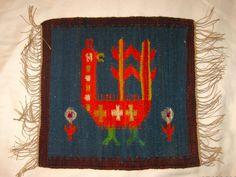 Hand-Woven 100% Wool Polish Kilim Wall Hanging c. 1970s