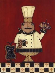 Vin Chef by Scherry Talbott art print