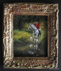 """""""The Quest"""" by Cindy Lotter Original Paintings, Original Art, Oil Paintings, Small Art, Dollhouse Miniatures, Artisan, Handmade, Amazing, Dolls"""