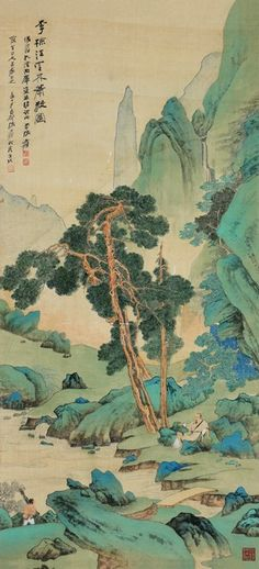 Catch the appeal of Zhang Daqian - an evergreen artist Chinese Landscape Painting, Korean Painting, Chinese Painting, Landscape Paintings, Landscapes, Japan Painting, Ink Painting, Japanese Drawings, Japanese Art