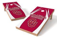 Oklahoma Sooners Cornhole Board Set - V http://prolinetailgating.com/