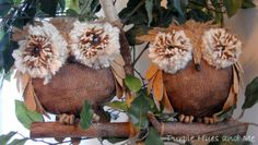 how to make your own burlap owls