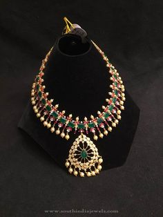 Ruby Emerald Necklace Pearls, Grand Ruby Emerald Necklace Designs