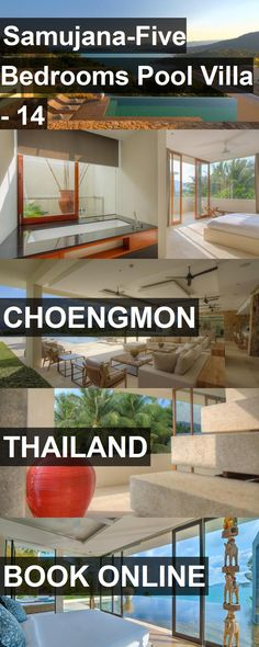 Hotel Samujana-Five Bedrooms Pool Villa - 14 in Choengmon, Thailand. For more information, photos, reviews and best prices please follow the link. #Thailand #Choengmon #travel #vacation #hotel