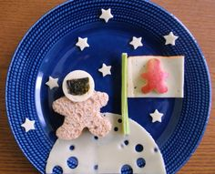 Snacks für Kinder – Snacks for children – Space Snacks, Space Food, Food Art For Kids, Cooking With Kids, Snack Ideas For Kids, Cooking Tips, Cute Snacks, Cute Food, Funny Food