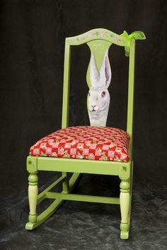 Rabbit rocking chair